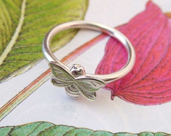 Dainty Bee Ring, bee jewellery, silver ring