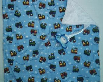 FREE SHIPPING Choo Choo Train Binky Blanket