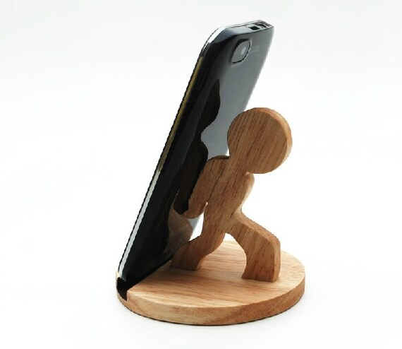 wooden phone stand desktop phone holder phone docking by yimowood. Black Bedroom Furniture Sets. Home Design Ideas