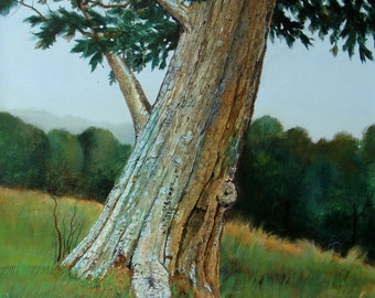 Lichen Tree Print of this Original Acrylic painting which has been sold.