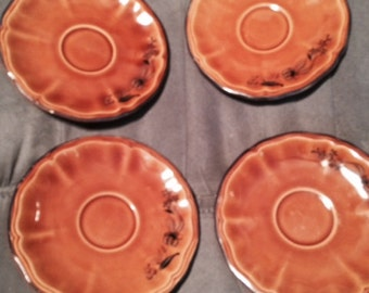 Elysee  by Luneville Louis XV honey Veronique Lot of 4 saucers only