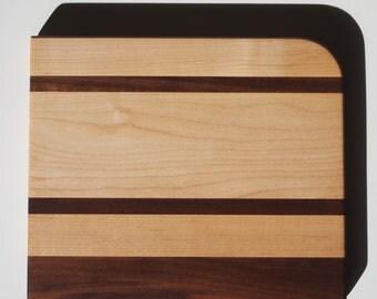 "11.75""x10""x1"" Maple and walnut cutting board"