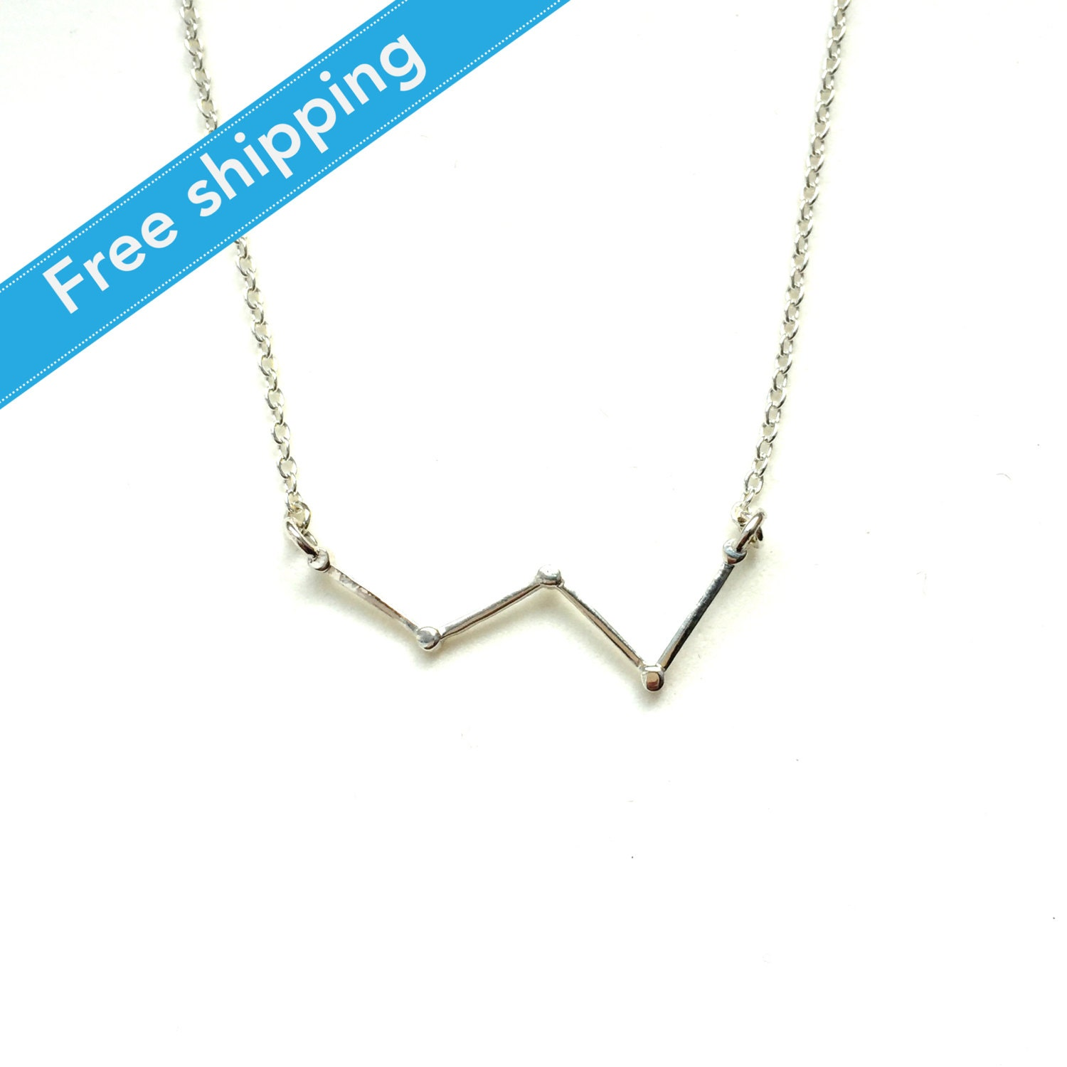 Science Jewelry: Silver Cassiopeia Necklace 3D By