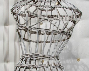 wicker wickered mannequin dummy display