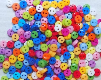 50 Resin Multicolor Sewing Buttons