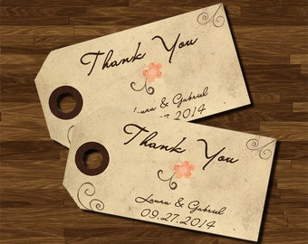 Thank You Tag, Vintage Style, customizable, wedding, printable, digital file, WhatAPrintableWorld