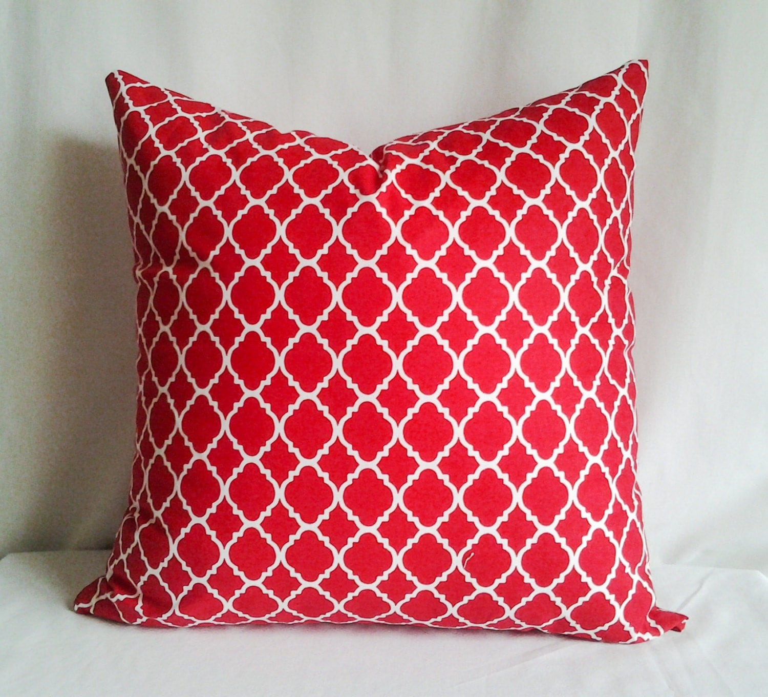Red and White Pillow Cover 18x18 Pillow Cover Decorative