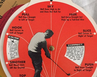 Vintage Ajay Sports Arnold Palmer Golf Dial Instructional Guide 1966