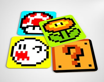 Super mario coasters set