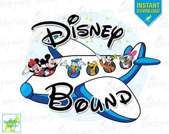 Disney Bound Mickey Airplane Printable Iron On Transfer or Use as Clip Art - DIY Disney Shirts, Instant Download, Disney World, Disneyland
