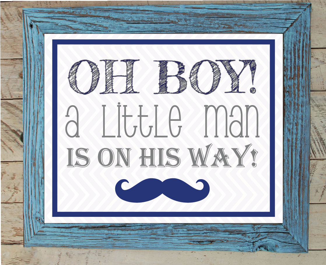 Baby Shower Oh Boy ~ Baby shower sign oh boy a little man is on his way x