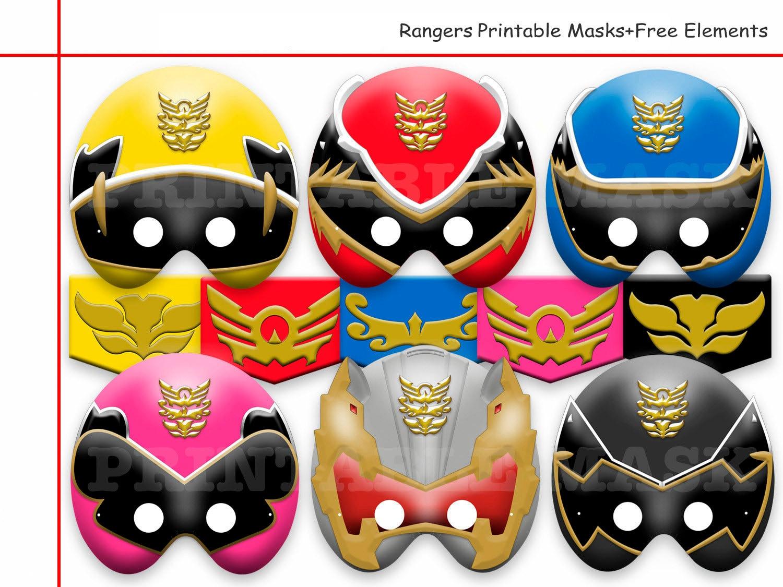 Unique rangers printable masksfree elements mask power - Masque de power rangers ...