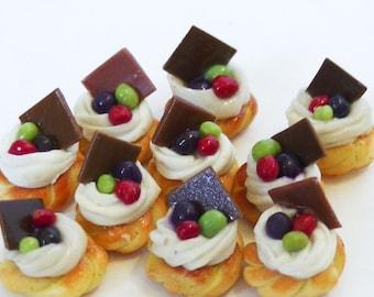4 Miniature Fruit Pastries, *Free Shipping, E-2