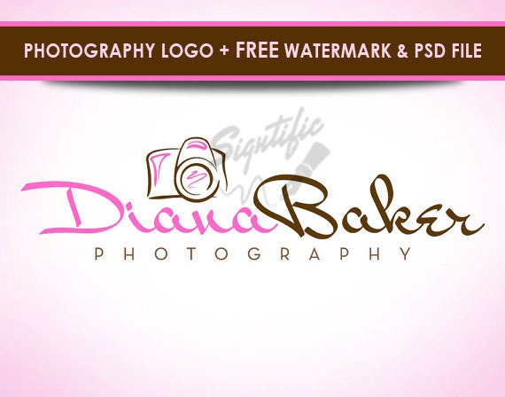 Photography camera logo, free watermark and source file, photographer logo, photograph watermark, camera logo custom design in any colors