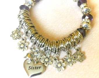 gift for sisters, sister, jewelry, bracelet, soul sisters, sister jewelry, jewellery, personalised, gift for sister