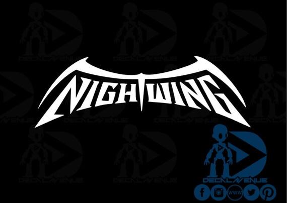 Nightwing Comic Symbol Logo New 52 Logo Vinyl Decal by ...