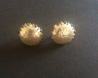 Miriam Haskell 1940's Baroque Pearl Clip Earrings