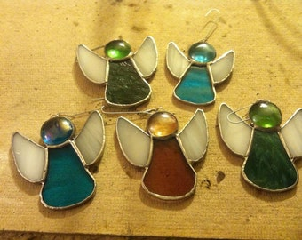 Angel Stained Glass Ornaments
