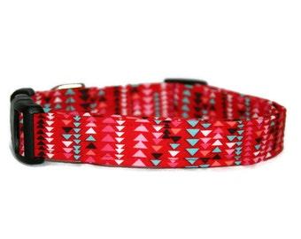 Red Triangle Dog Collar