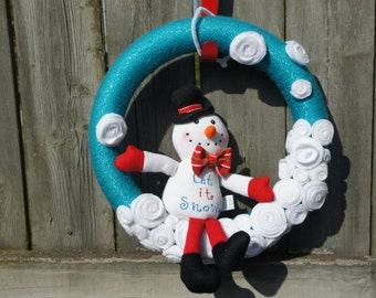 """12"""" Snowman Wreath"""