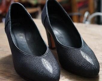 Stunning Stingray leather ladies high heel shoes