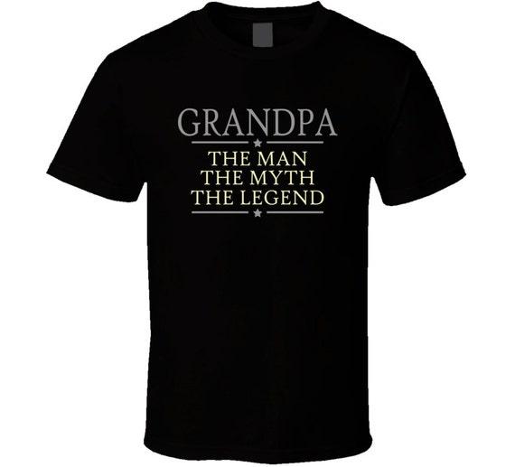 Grandpa the man the myth the legend t shirt grandpa papa like this item sciox Gallery