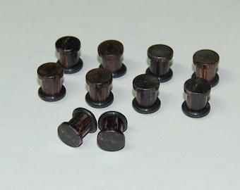 1g Ear Plugs - Burmese Blackwood, Hand Turned