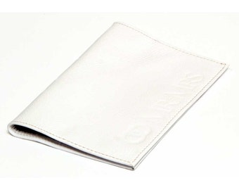 Genuine leather 'Mr and Mrs' passport cover / holder in white