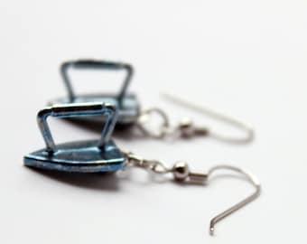 Monopoly Iron Token Earrings