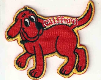 Clifford the Big Red Dog Embroidered Iron On / Sew On Patch ~ golden retriever