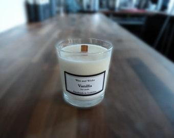 Vanilla soy wax Wood Wick candle