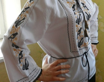 Traditional hand embrpoidered women blouse - author styled Vyshyvanka. To your oder