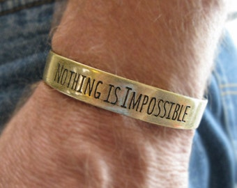 Fitbit Bracelet Fitbit Flex Nothing Is Impossible GOLD inspirational