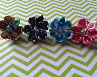 Flower lapel pin all colors