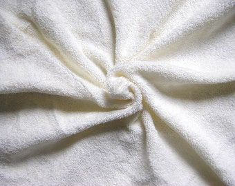 Cotton Terry Toweling Fabric - cream - Extra Wide 1,80m -Very flexible