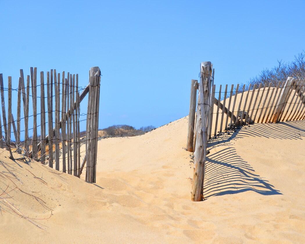 Beach Fence Fine Art Photography Wall Photo Print Sand Dune