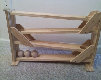 Handmade Wooden Ball Track