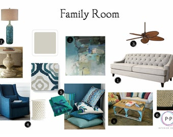 Family Room Package Online Interior Design Service E Services Moodboard