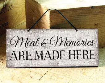 Wall Sign in Brown & White. Kitchen Sign. Kitchen Decor. Restaurant Decor. Positive Saying. Rustic Signs. Fathers Day Gift. Ready to Ship