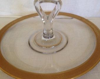 Vintage Tiffin Franciscan Gold Rimmed Dessert -Tidbit Tray