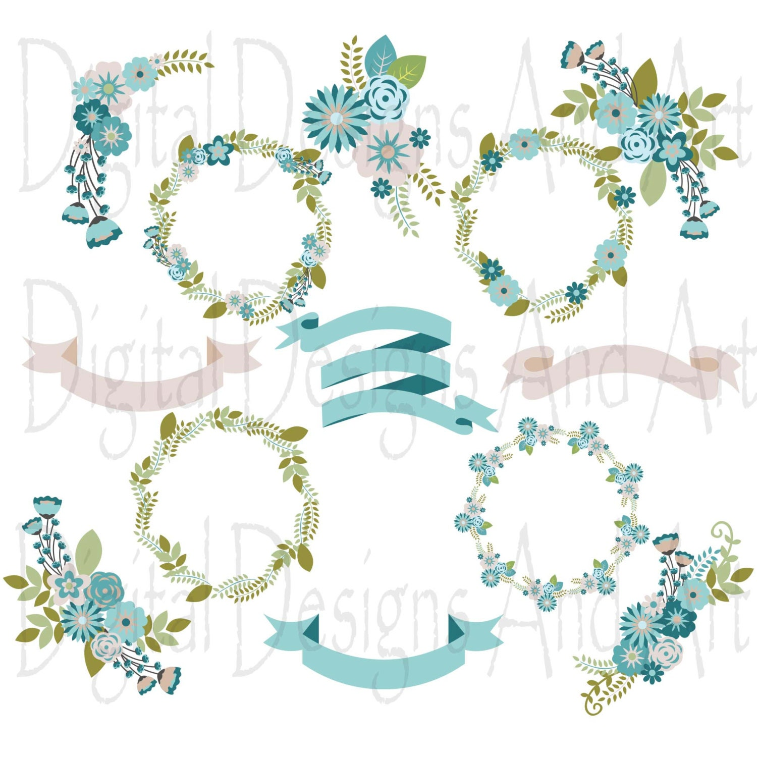 Wedding Floral Clipart Wedding Flowers Floraw Clipart