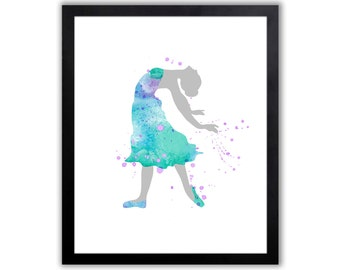 Watercolor Ballerina Art Print - Abstract Watercolor Painting - FIG017