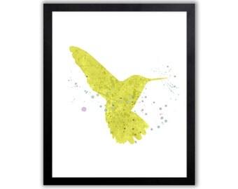 Bird Art, Hummingbird Print, Wildlife Decor