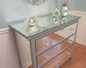 Mirrored Dresser Silver, Upcycled Ikea 3 Drawer Mirror Dresser