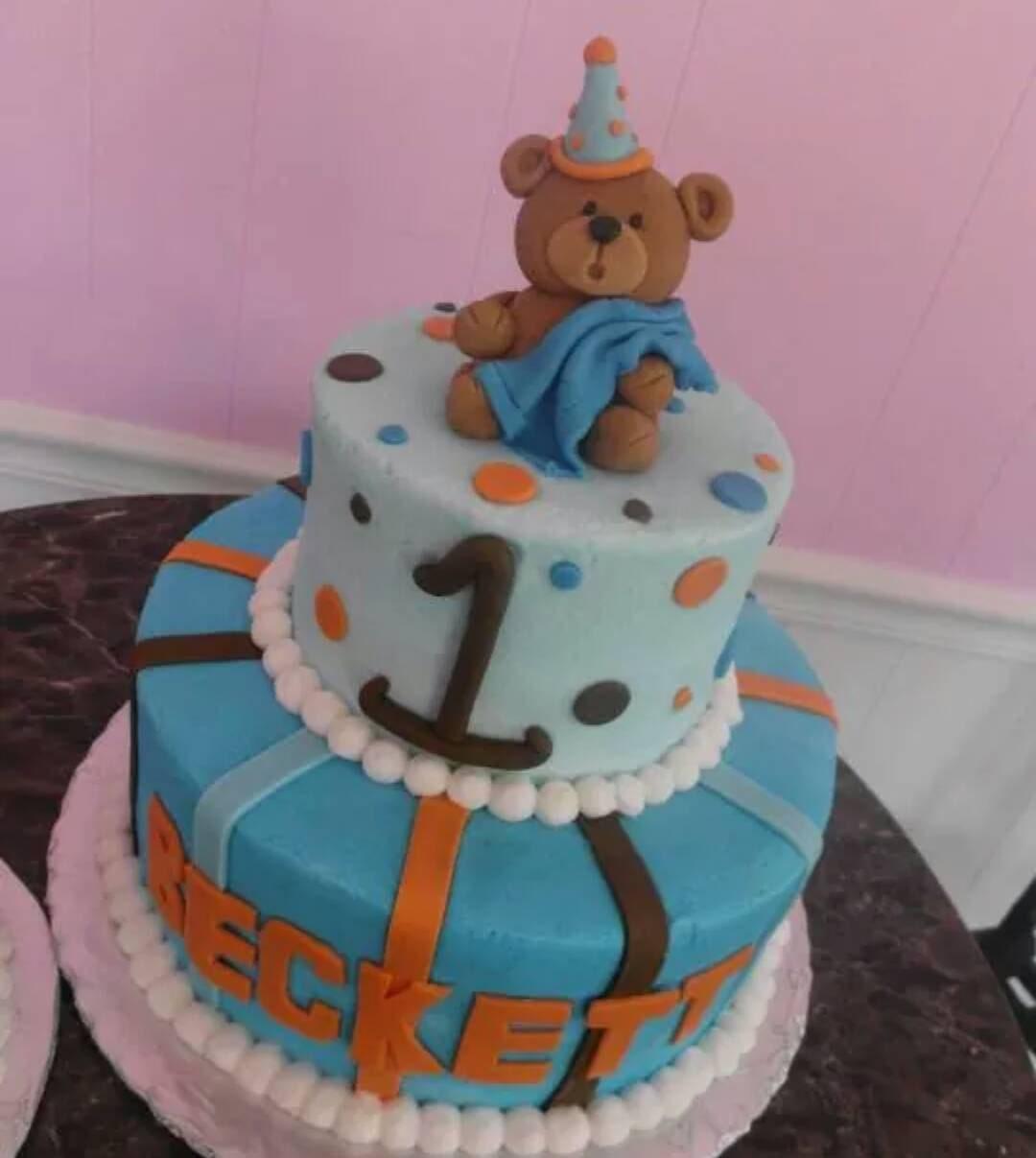 Handmade Fondant Teddy Bear cake topper set by dallas2001 ...