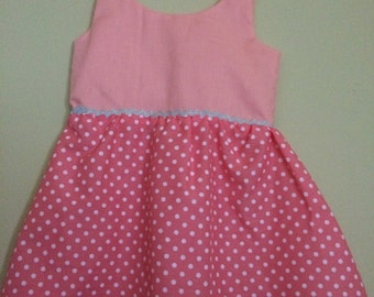 Pretty in pink summer frock size 6-12 month