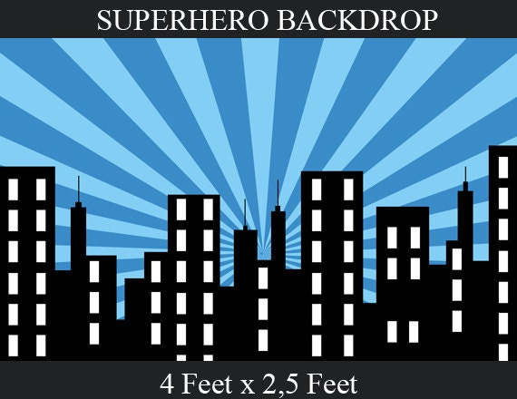 superhero background superhero birthday party city by enipixels. Black Bedroom Furniture Sets. Home Design Ideas