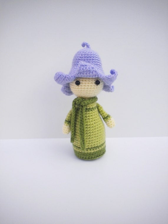 Original Crochet Amigurumi Flowers : Crochet Pattern Amigurumi Doll Flower Doll Bluebell by hugles