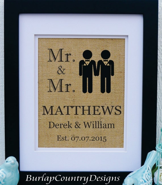 Wedding Gift Ideas For A Gay Couple : Gay Couple Wedding - Mens gay wedding - Wedding Gift for Gay couple ...