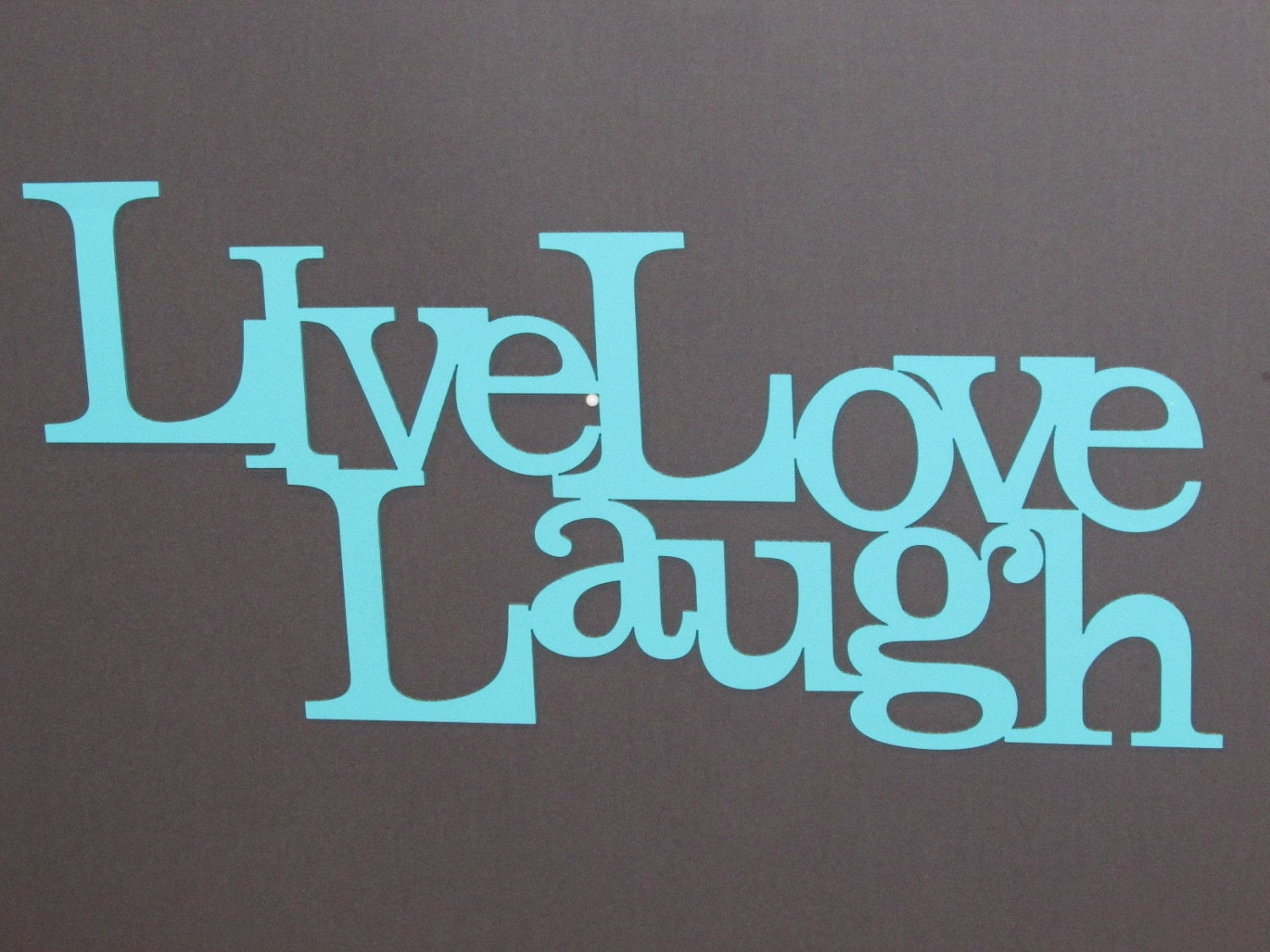 live laugh love wood word art sign wall decor aqua color. Black Bedroom Furniture Sets. Home Design Ideas